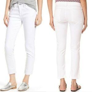 Rag & Bone Dre Capri White Jeans